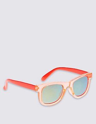 Kids' Retro Mirrored Sunglasses (Younger Boys), ORANGE, catlanding