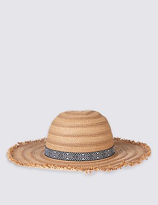 Kids' Fringe Summer Hat, TAN, catlanding