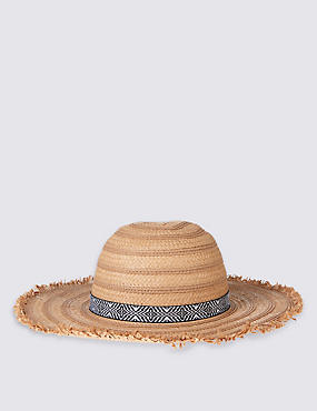Kids' Fringe Summer Hat, TAN, catlanding