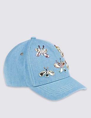 Kids' Pure Cotton Baseball Hat, BLUE MIX, catlanding