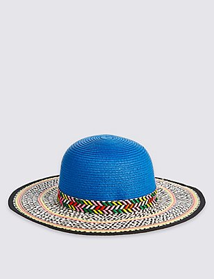 Kids' Patterned Floppy Hat, MULTI, catlanding