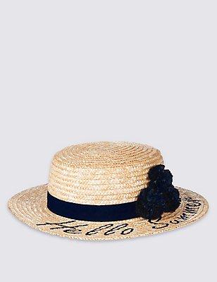 Kids' Summer Hat, LIGHT TAN, catlanding