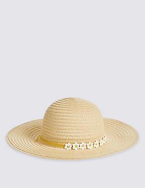 Chapeau été enfant à motif marguerites, HAVANE, catlanding