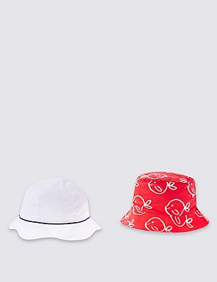 Kids' 2 Pack Assorted Hats, RED MIX, catlanding