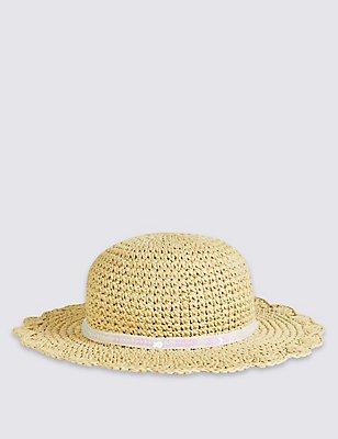 Kids' Floppy Summer Hat , LIGHT TAN, catlanding