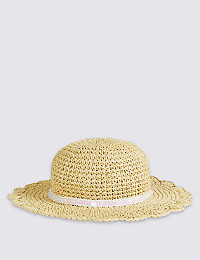 Kids' Floppy Summer Hat , LIGHT TAN, catlanding