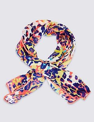 Kids' Leopard Print Scarf, MULTI, catlanding