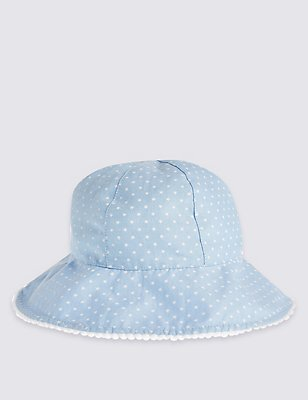 Kids' Star Print Hat, WHITE MIX, catlanding