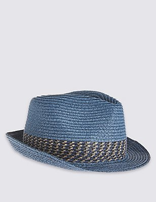 Kids' Trilby Hat, BLUE MIX, catlanding