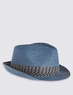 Kids' Trilby Hat, BLUE MIX, catlanding