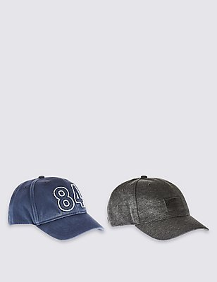 Kids' 2 Pack Baseball Hats, GREY MIX, catlanding
