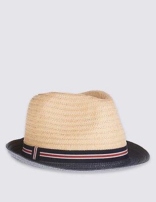 Kids' Trilby Hat, PALE TAN, catlanding