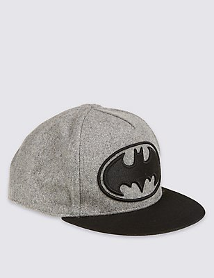 Kids' Wool Blend Batman™ Hat, GREY MIX, catlanding