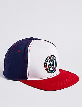 Kids' Avengers™ Pure Cotton Baseball Hat, MULTI, catlanding