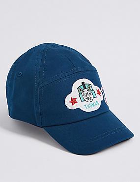 Kids' Pure Cotton Thomas & Friends™ Hat, NAVY, catlanding