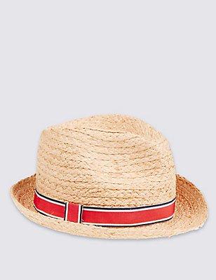 Kids' Trilby Hat, TAN, catlanding