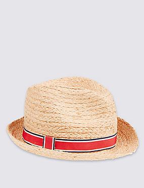 Chapeau enfant style Trilby, HAVANE, catlanding