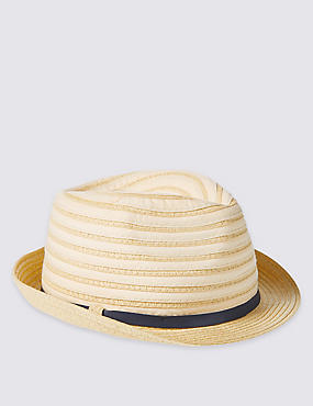 Kids' Collapsible Trilby Hat, SAND, catlanding