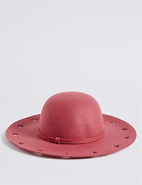 Kids' Star Felt Floppy Hat , PINK, catlanding