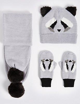 Ensemble bonnet, écharpe et gants enfants, GRIS ASSORTI, catlanding
