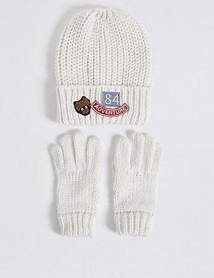 Kids' Hat & Gloves Set, MULTI, catlanding