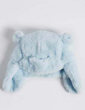 Kids' Faux Fur Trapper Hat, PALE BLUE, catlanding