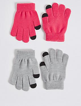 Kids' 2 Pack Gloves, PINK MIX, catlanding