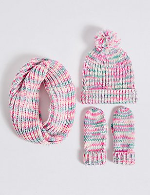 Kids' Hat, Scarf & Gloves Set , MULTI, catlanding