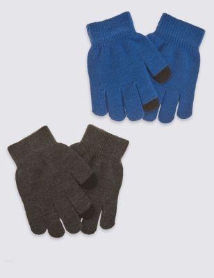 Перчатки Magic с функцией тачскрин для мальчика (2 пары)