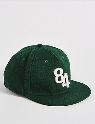 Kids' Wool Blend Baseball Cap, GREEN, catlanding