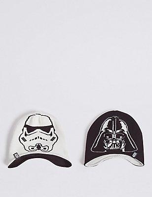 Kids' Star Wars™ Reversible Trapper Hat, BLACK MIX, catlanding