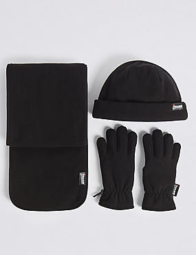 Kids' Hats, Scarves & Gloves Set with Thinsulate™, BLACK, catlanding