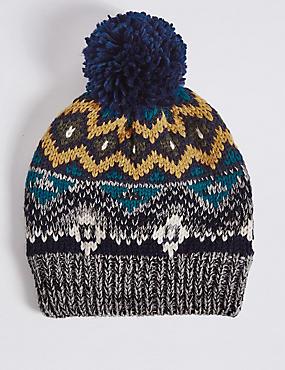 Kids' Fairisle Hat, MULTI, catlanding