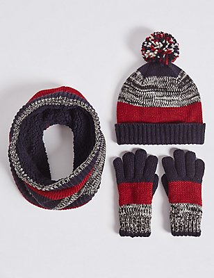 Kids' Hats & Scarves with Gloves Set, CREAM MIX, catlanding