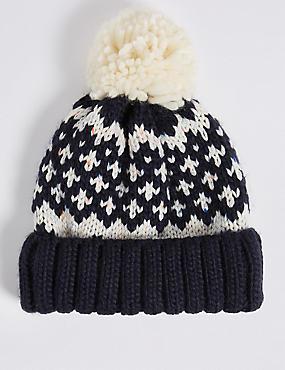 Kids' Fairisle Hat, CREAM MIX, catlanding