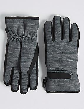 Kids' Ski Gloves with Thinsulate™, BLACK MIX, catlanding