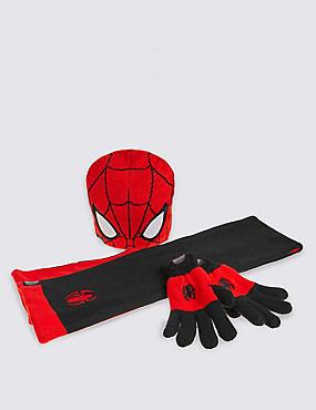 Kids' Spider-Man™ Hat, Scarf & Gloves Set, RED MIX, catlanding