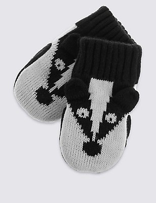 Kids' Badger Mittens, BLACK MIX, catlanding