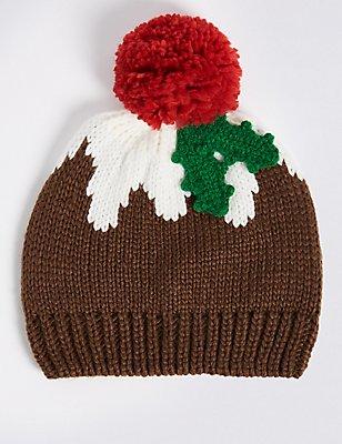 Kids' Pom-pom Hat, BROWN MIX, catlanding