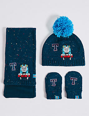 Kids' Hats & Scarves with Mitten Sets, NAVY MIX, catlanding