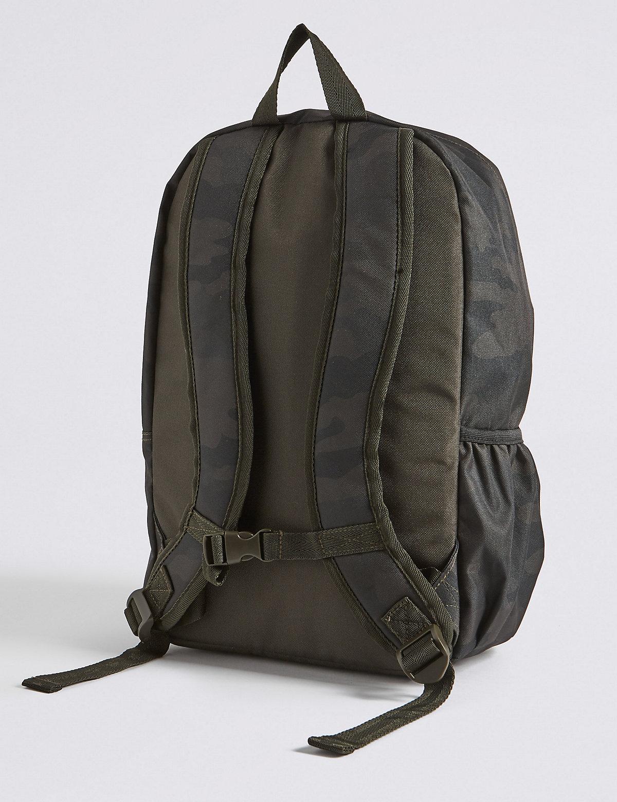 Рюкзак для мальчика с камуфляжным принтом и водоотталкивающей пропиткой