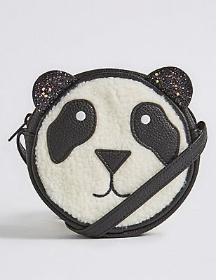 Kids' Panda Cross Body Bag, BLACK MIX, catlanding
