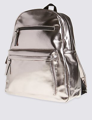 Kids' Fashion Rucksack Bag, PEWTER, catlanding