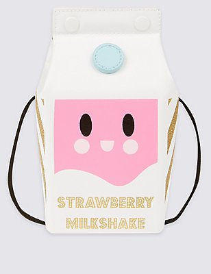 Kids' Milkshake Cross Body Bag, WHITE MIX, catlanding