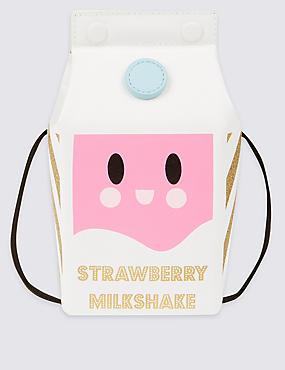 Kids' Milkshake Cross Body Bag, WHITE MIX, catlanding