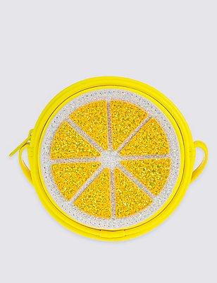 Kids' Lemon Cross Body Bag, YELLOW, catlanding