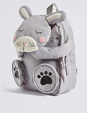 Kids' Rabbit Novelty Rucksack, PINK MIX, catlanding