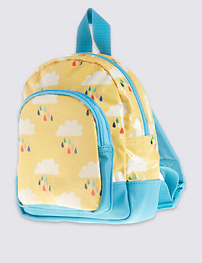 Kids' Rain Cloud Rucksack, YELLOW MIX, catlanding