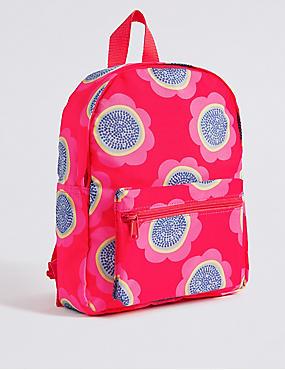 Bedruckter Rucksack für Kinder, ROSA MELANGE, catlanding