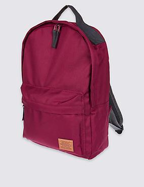 Kids' Front Pocket Rucksack, BURGUNDY, catlanding